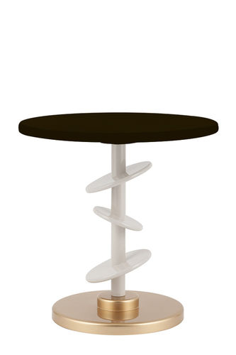 "Green Apple Side Table ""Áurea"" black - gold"