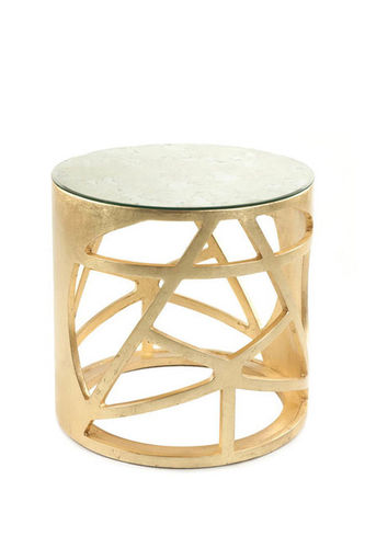 "Green Apple Side Table ""Pyrite"" aged - gold"