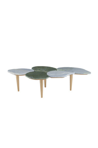"Green Apple Coffee Table ""Infinity"" gold green"