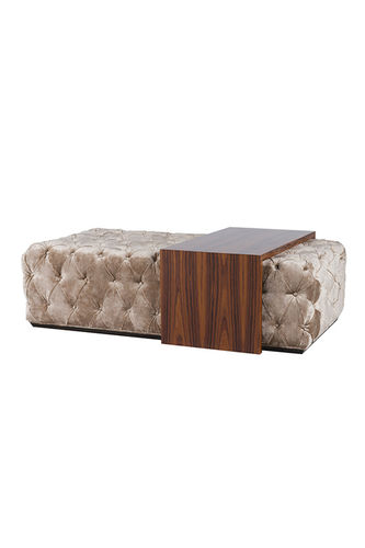 "Green Apple Upholstered Coffee Table ""Moulins"" cream"