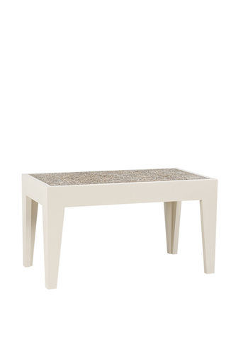 "Green Apple Coffee Table ""Capiz"" L light brown"