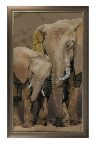 "Green Apple Wall Art ""Safari"" Elefant"