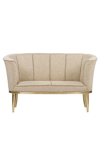 "Green Apple 2 Seat Sofa ""Lisboa"" cream - gold"
