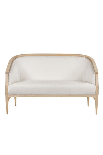 "Green Apple 2 Seat Sofa ""Paris"" white + natural"
