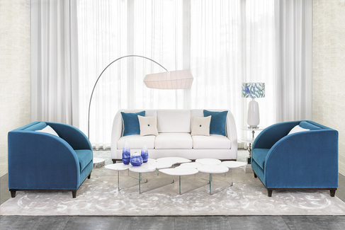 "Green Apple3 Seat Sofa ""Miami"" deep blue"