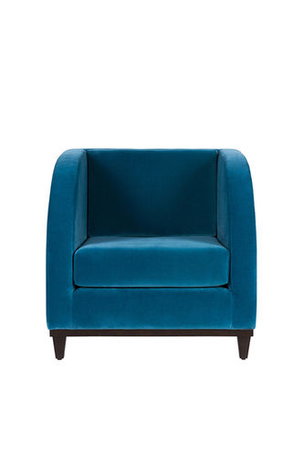 "Green Apple 1 Seat Sofa ""Miami"" deep blue"