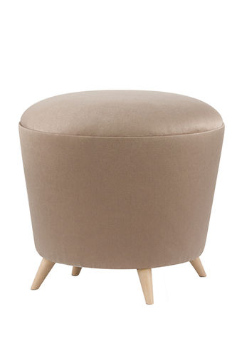 "Green Apple Puff Stool ""Porthos"" light brown"