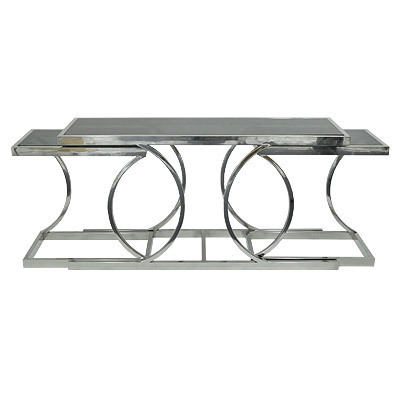 Hazenkamp Console Table with Clear Glass150x43x75 cm