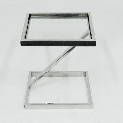 Hazenkamp Side Table with Clear Glass 45x45x51 cm