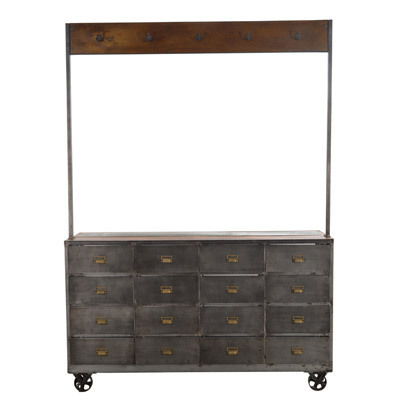 Hazenkamp Glass Drawer Cabinet 178x55x247 cm