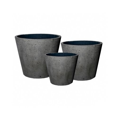 Pottery Pots * Classic * Laterite *  Bucket set of 3 * 59x59x51 cm