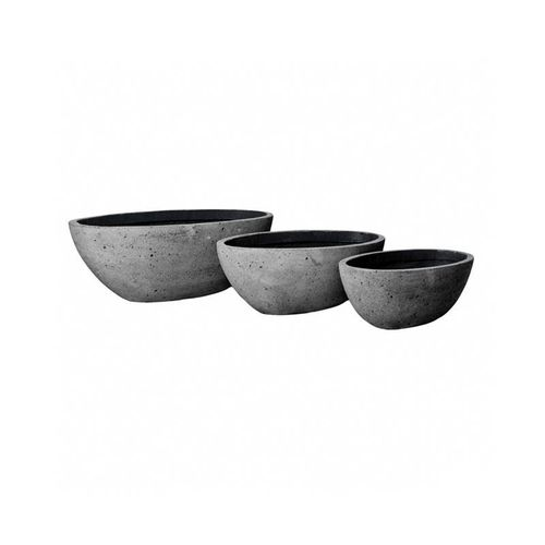 Pottery Pots * Classic * Laterite * Drax Set of 3 * 79x40x27 cm * Laterite Grey