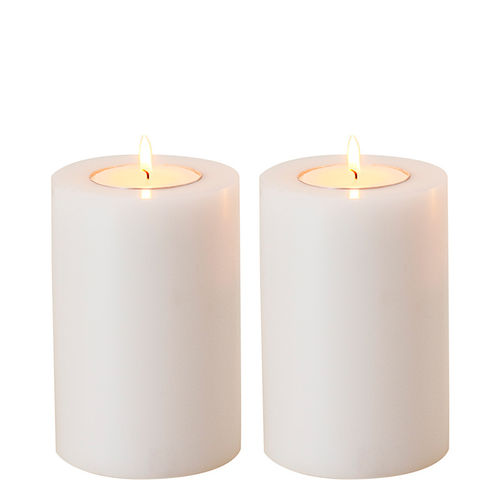 Artificial Candle set of 2 * 10 x h15 cm