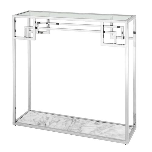 Console Table Morris polished stainless steel