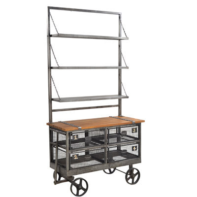Hazenkamp INDUSTRIAL * Display Trolley 106x48x208 cm