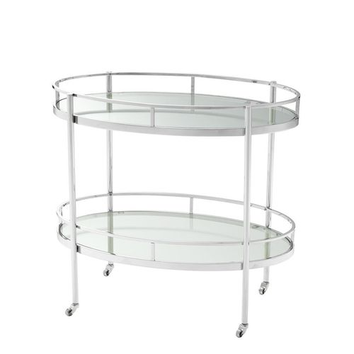 EICHHOLTZ Trolley Arezzo * Stainless steel | clear glass