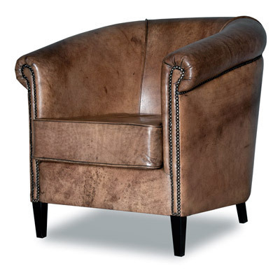 Hazenkamp Virginia Arm Chair, Buffalo Leather SHOWROOM