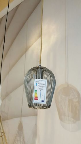Light & Living Haengeleuchte Ø19x26 cm ABBY antik Silber * Showroom Bad Ems