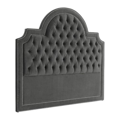 EICHHOLTZ Headboard Melbourne * Granite grey | nickel nails
