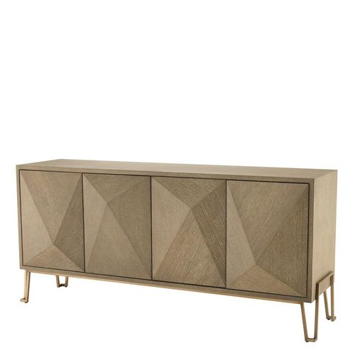 EICHHOLTZ Dresser Highland * Washed oak veneer | brushed brass finish