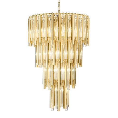Chandelier Gigi L * Gold finish | clear glass