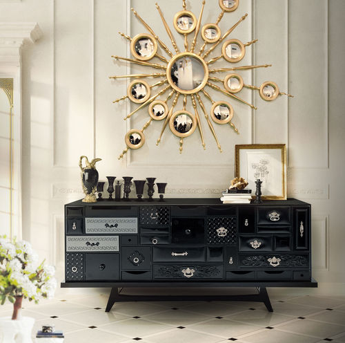 BOCA DO LOBO * SIDEBOARD Mondrian black * in stock *