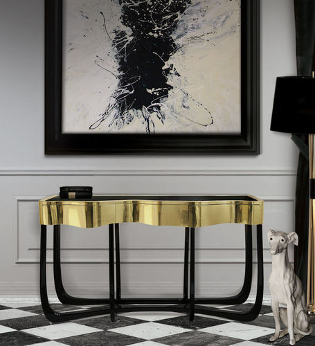 BOCA DO LOBO * CONSOLE Sinuous gold * in stock *