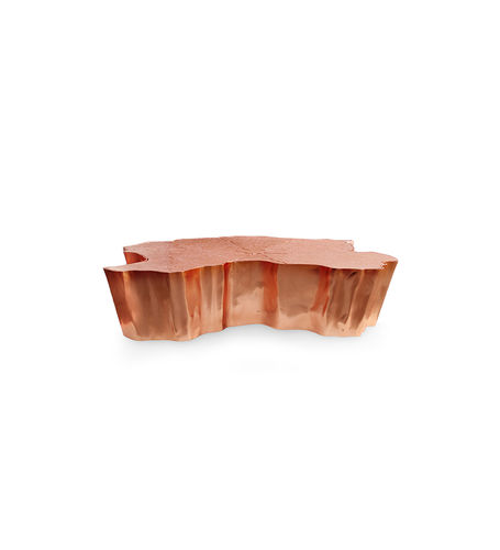 BOCA DO LOBO * Eden Copper Leaf CENTER TABLE * small