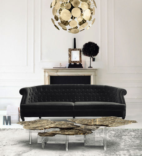 BOCA DO LOBO * Monet CENTER TABLE * brass * in stock *