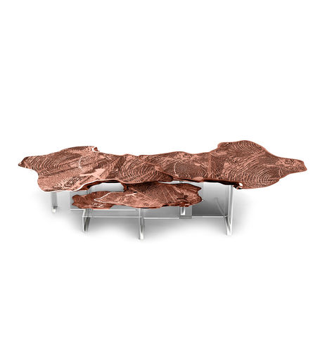 BOCA DO LOBO * Monet Copper CENTER TABLE * in stock *