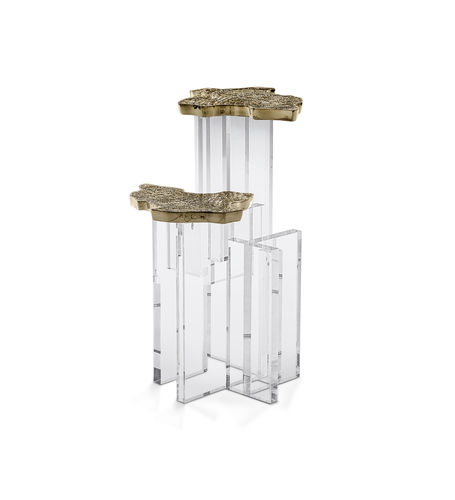 BOCA DO LOBO * Monet SIDE TABLE * Gold Brass