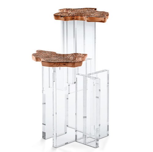 BOCA DO LOBO * Monet Copper SIDE TABLE * in stock *