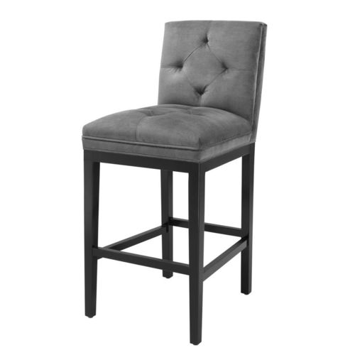 EICHHOLTZ Bar Stool Cesare * Granite grey | black legs