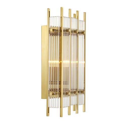 Eichholtz Wall Lamp Sparks S * Gold finish | clear glass