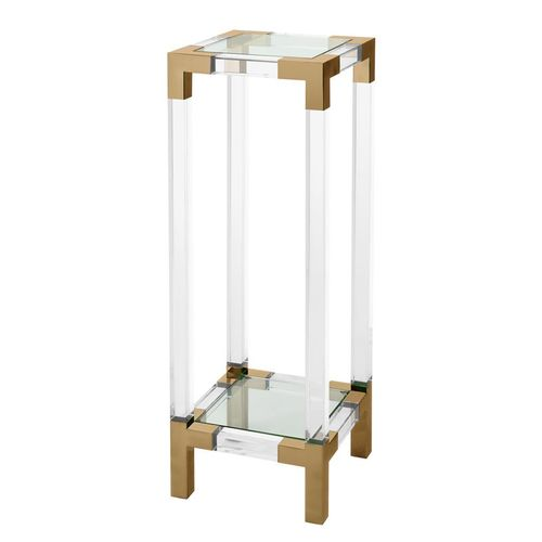 Eichholtz Column Royalton * Clear acrylic | brushed brass finish
