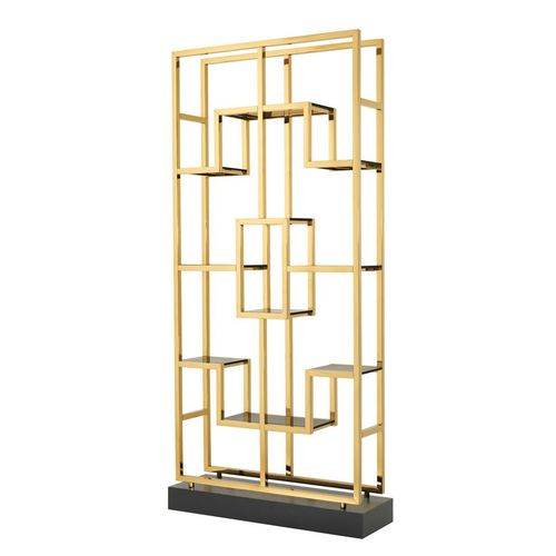 Eichholtz Cabinet Lagonda * Gold finish | smoke glass