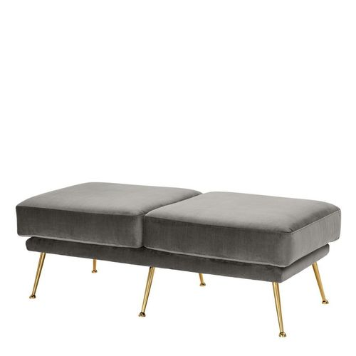 Eichholtz Bench Tahoe * Granite grey | brass legs