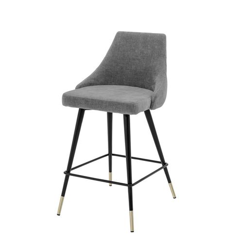 Eichholtz Counter Stool Cedro * Clarck grey | black & brass legs