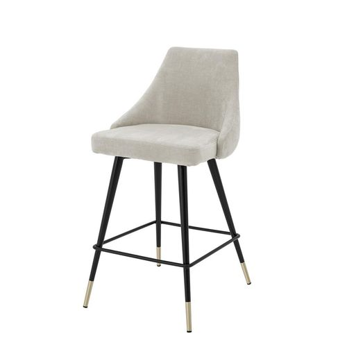 Eichholtz Counter Stool Cedro * Clarck sand | black & brass legs