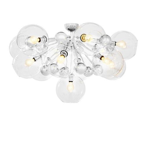 Eichholtz Ceiling Lamp Soleil * Nickel finish | clear glass