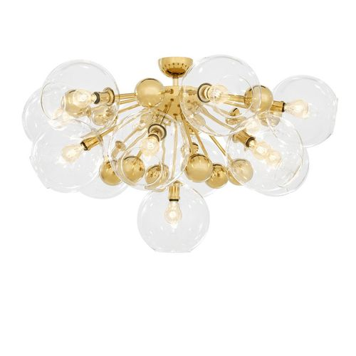 Eichholtz Ceiling Lamp Soleil * Gold finish | clear glass
