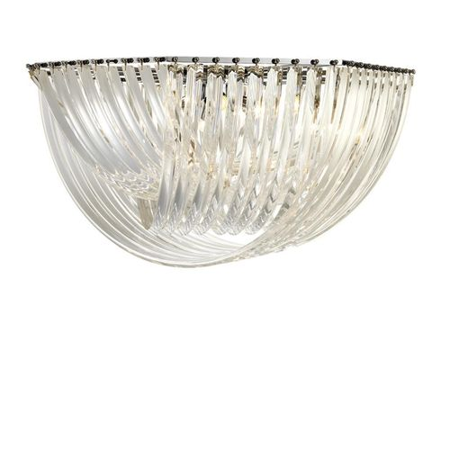 Eichholtz Ceiling Lamp Hyères * ø 90 x H. 45 cm Clear acrylic | nickel finish
