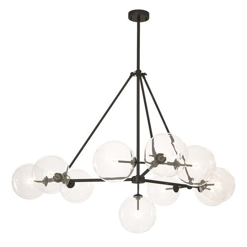Eichholtz Chandelier Bermude * ø 144 x H. 90 cm Bronze finish | clear glass