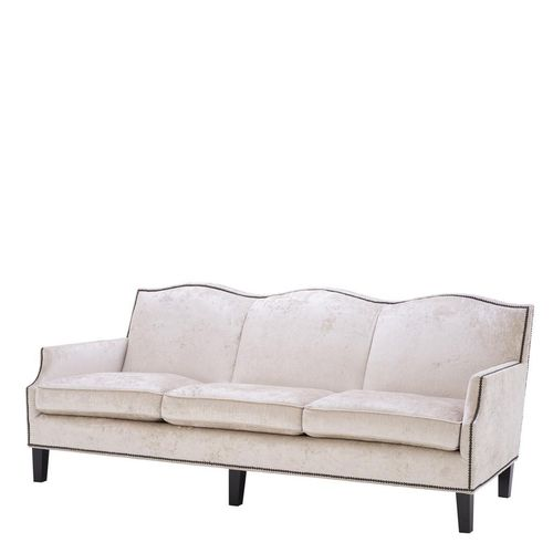 Eichholtz Sofa Merlin * Mirage off-white | antique bronze nails
