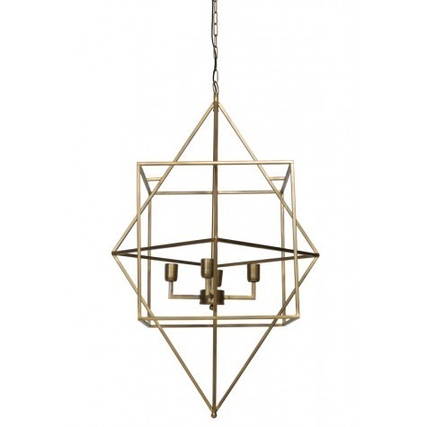 Light & Living Haengeleuchte 4L Ø66x107 cm BAULA antik gold