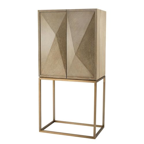 Eichholtz Cabinet DeLaRenta * Washed oak veneer | brushed brass finish