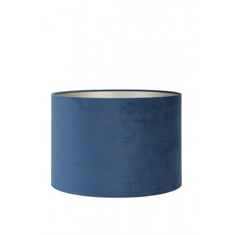 Light & Living Lampenschirm Zylinder 30-30-21 cm VELOURS petrol blue