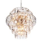 Eichholtz Chandelier Amazone L * Nickel finish | clear crystal glass