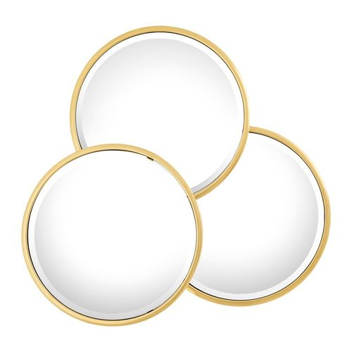 Mirror Sensation Round * Gold finish | bevelled mirror glass