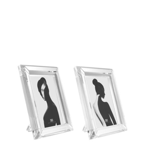 EICHHOLTZ Picture Frame Theory L set of 2 * Clear crystal glass